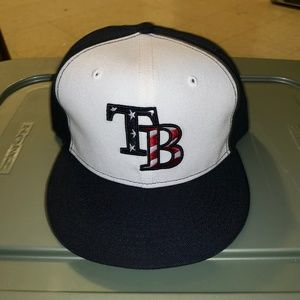 New Era Tampa Bay Rays Fitted America Flag Hat